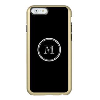 Monogram Initial Black High End Colored Incipio Feather® Shine iPhone 6 Case