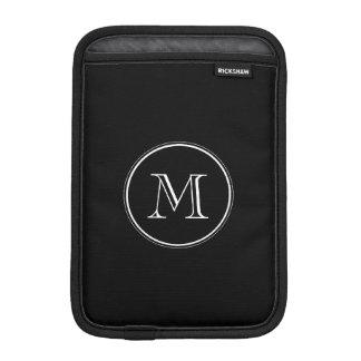 Monogram Initial Black High End Colored iPad Mini Sleeve