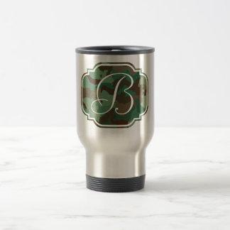 Monogram Initial - Customizable Camo Travel Mug
