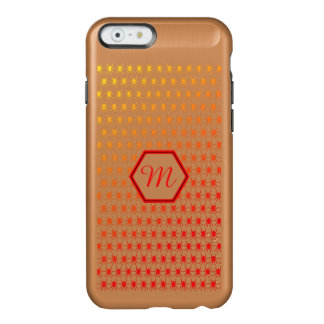Monogram initial fiery spiders pattern incipio feather® shine iPhone 6 case