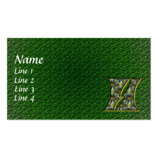 Monogram Initial H Daisies Floral Business Card