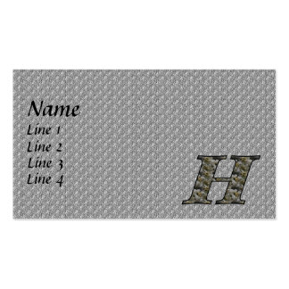 Monogram Initial H Hydrangea Business Card