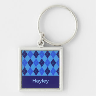 Monogram initial H personalised name keychain