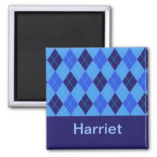 Monogram initial H personalised name magnet