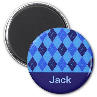 Monogram initial J personalised name magnet