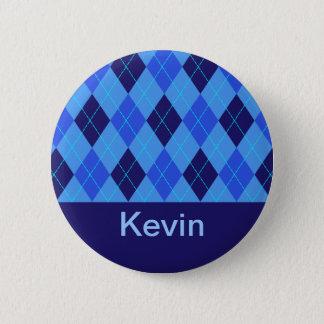 Monogram initial K personalised name button