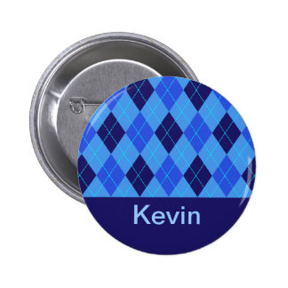 Monogram initial K personalised name button