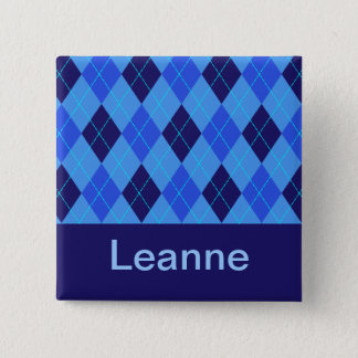 Monogram initial L personalised name button