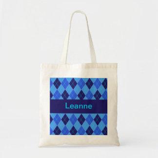 Monogram initial L personalised name tote bag