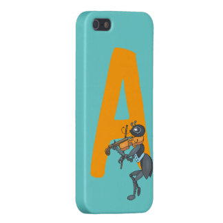 Monogram initial letter A with ant cartoon custom iPhone 5 Cover