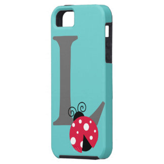 Monogram initial letter L cute ladybug custom iPhone 5 Case