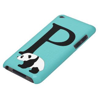 Monogram initial letter P, cute panda custom iPod Case-Mate Case
