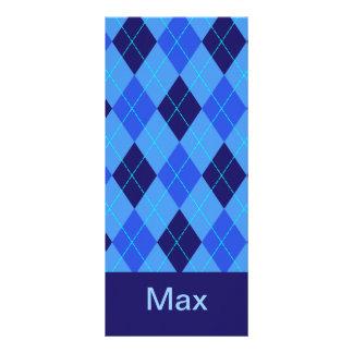Monogram initial M personalised name bookmark Rack Card