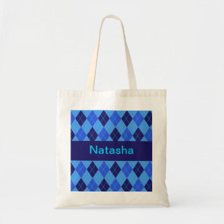 Monogram initial N personalised name tote bag