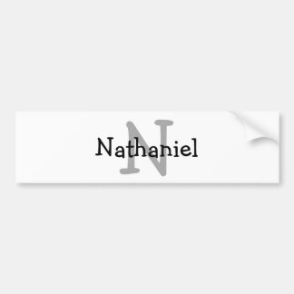 Monogram Initial Name Kids Water Bottle Decal Bumper Sticker