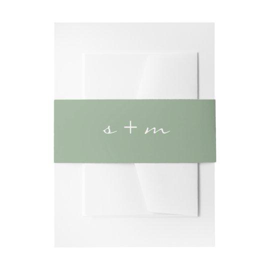 Monogram Initial Simple Modern Minimalist Wedding Invitation