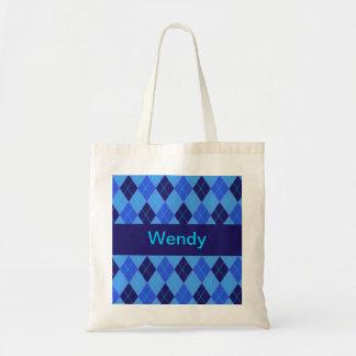 Monogram initial W personalised name tote bag