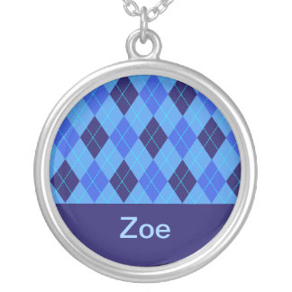 Monogram initial Z personalised name necklace