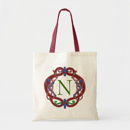 Monogram Initials Celtic Design Personalised Tote