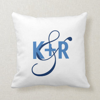 Monogram Initials Personalised Wedding Pillow2 Cushion