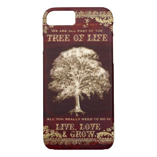 Monogram Inspirational Message Tree of Life iPhone 8/7 Case