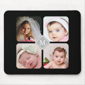 Monogram Instagram Photo Collage Custom Mouse Mat