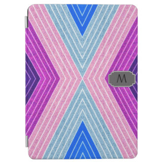 Monogram iPad Air cover with Geometric Zig Zag