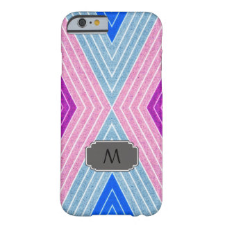 Monogram iPhone Case with Geometric Zig Zag
