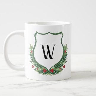 Monogram it! Christmas Crest Jumbo Mug