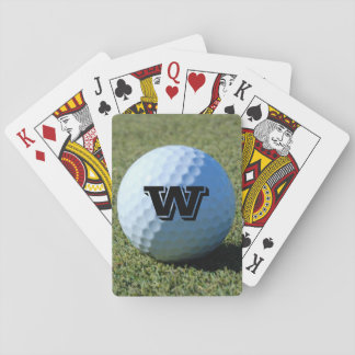 (Monogram - It) Golf Ball on Green close-up photo Playing Cards