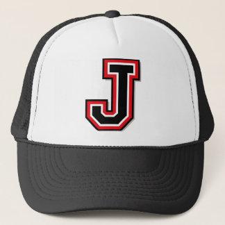 "Monogram ""J"" Initial Trucker Hat"