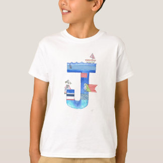 Monogram J pirate collection gift T-Shirt