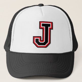 "Monogram ""J"" Trucker Hat"