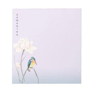 "Monogram Japanese Vintage Lotus 5.5"" x 6"" Notepad"