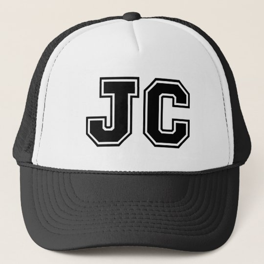 Monogram 'JC' Trucker Hat