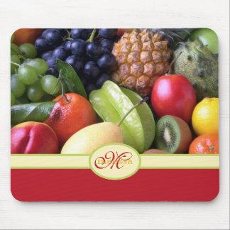 Monogram Juicy Natural Delicious Ripe Fresh Fruits Mousepads