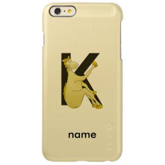 Monogram K Cartoon Pony Personalised Incipio Feather® Shine iPhone 6 Plus Case