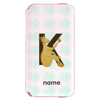 Monogram K Cartoon Pony Personalised Incipio Watson™ iPhone 6 Wallet Case