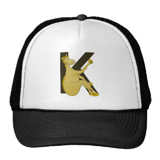 Monogram K Flexible Horse Personalised Trucker Hat
