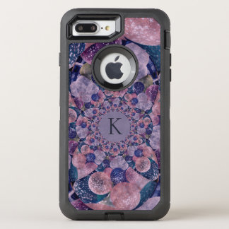 Monogram Kaleidoscope Purple And Pink Balloons OtterBox Defender iPhone 8 Plus/7 Plus Case