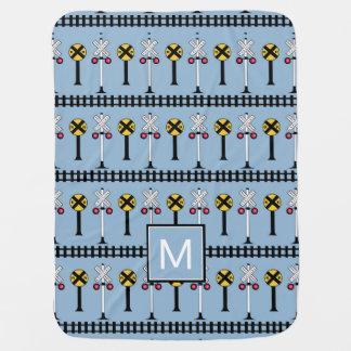 Monogram | Kids Train Signals Baby Blanket