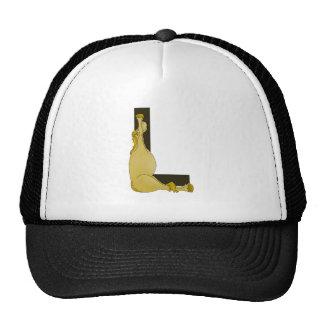 Monogram L Cartoon Pony Personalised Hat