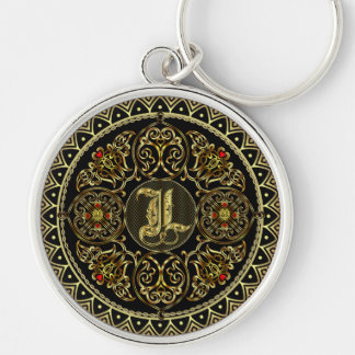Monogram L Key Ring