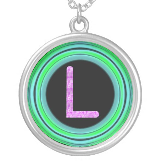 "Monogram ""L"" Necklaces"