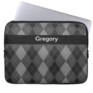 Monogram Laptop Case Argyle Style Laptop Computer Sleeve