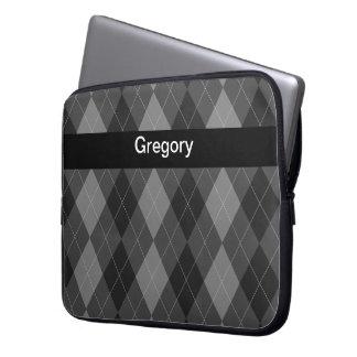 Monogram Laptop Case Argyle Style Laptop Sleeve