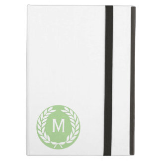 Monogram Laurel Leaf Wreath Cover For iPad Air