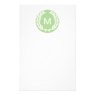 Monogram Laurel Leaf Wreath Flyer Design