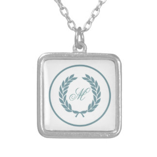 Monogram Laurel Leaf Wreath Custom Jewelry