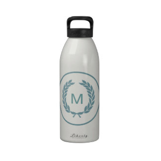Monogram Laurel Leaf Wreath Drinking Bottles